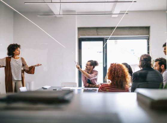 Business people and teamwork in office. Teamwork successful meeting workplace concept.